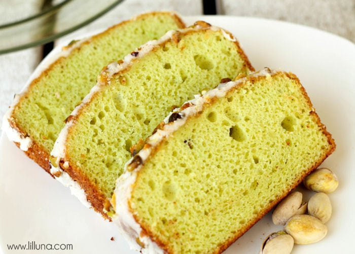 Frosted Pistachio Bread recipe