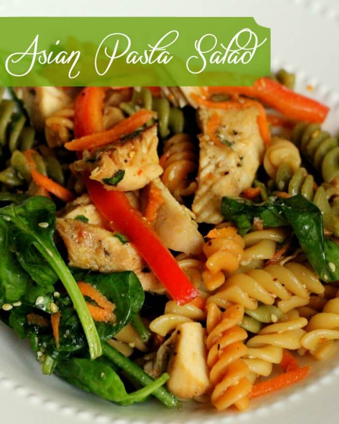 Asian Pasta Salad. This is such a great salad! Must-keep recipe { lilluna.com }
