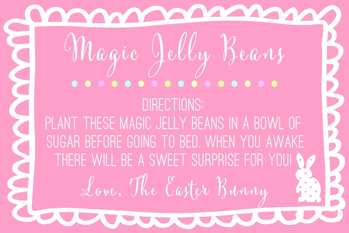 magic jelly beans poem