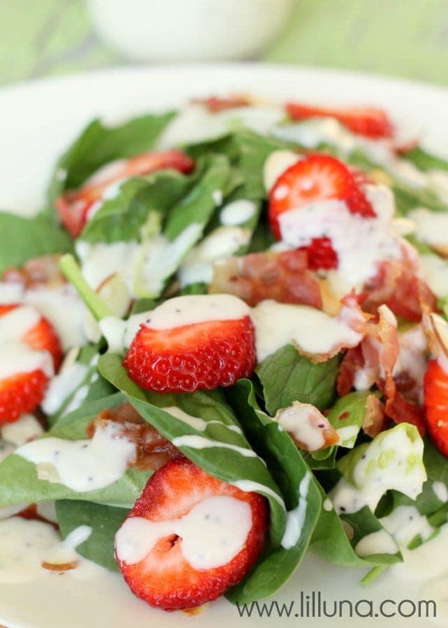 Strawberry Bacon Salad - YUMMY!