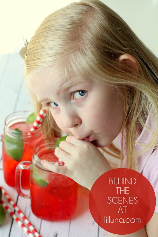 behind the scenes - cherry limemade