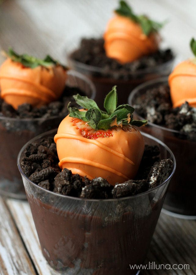 Carrot Chocolate Covered Strawberries