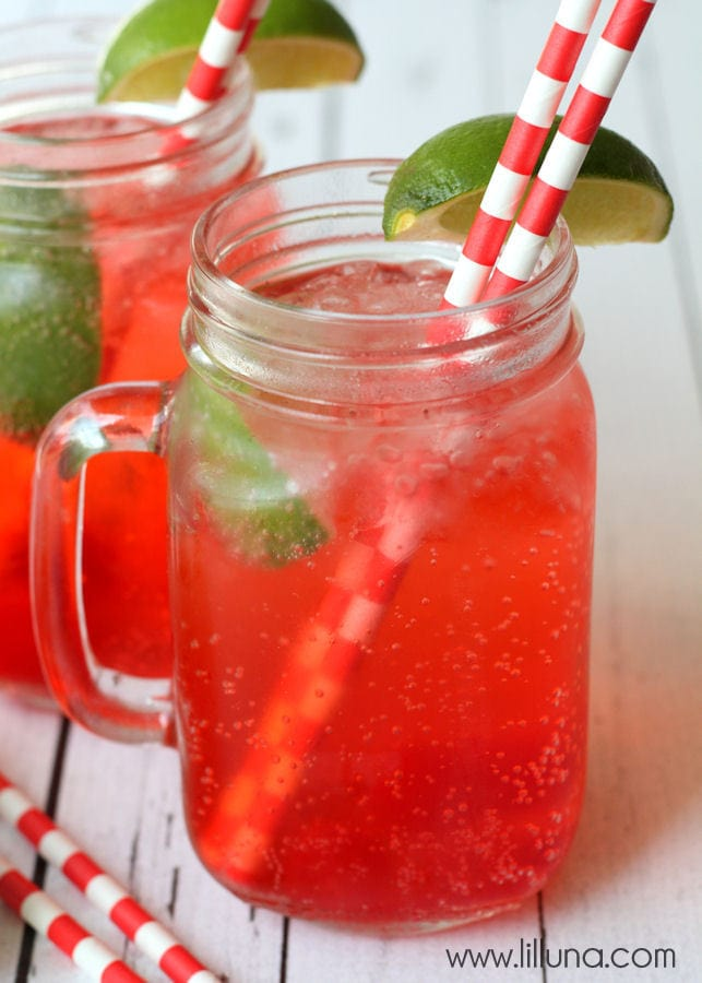 Copycat Sonic Cherry Limeade Drink - the best!