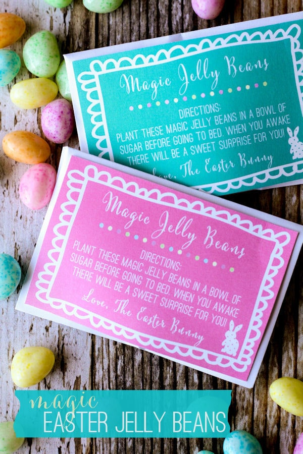 Magic Easter Jelly Bean Prints on { lilluna.com } - a fun Easter tradition that kids will love!