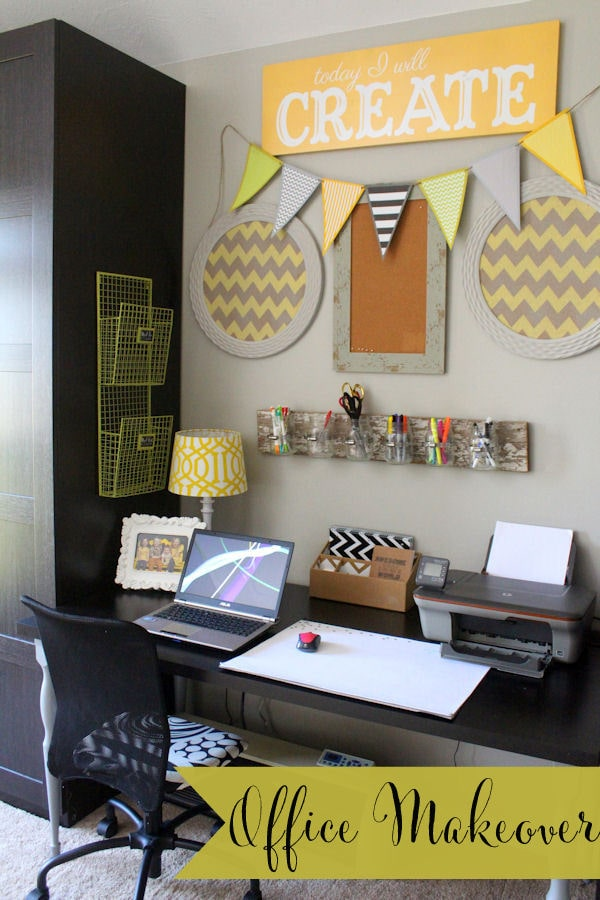 Super cute and easy Office Makeover { lilluna.com }