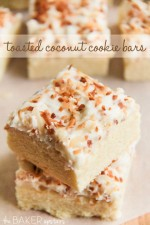 Toasted Coconut Cookie Bars