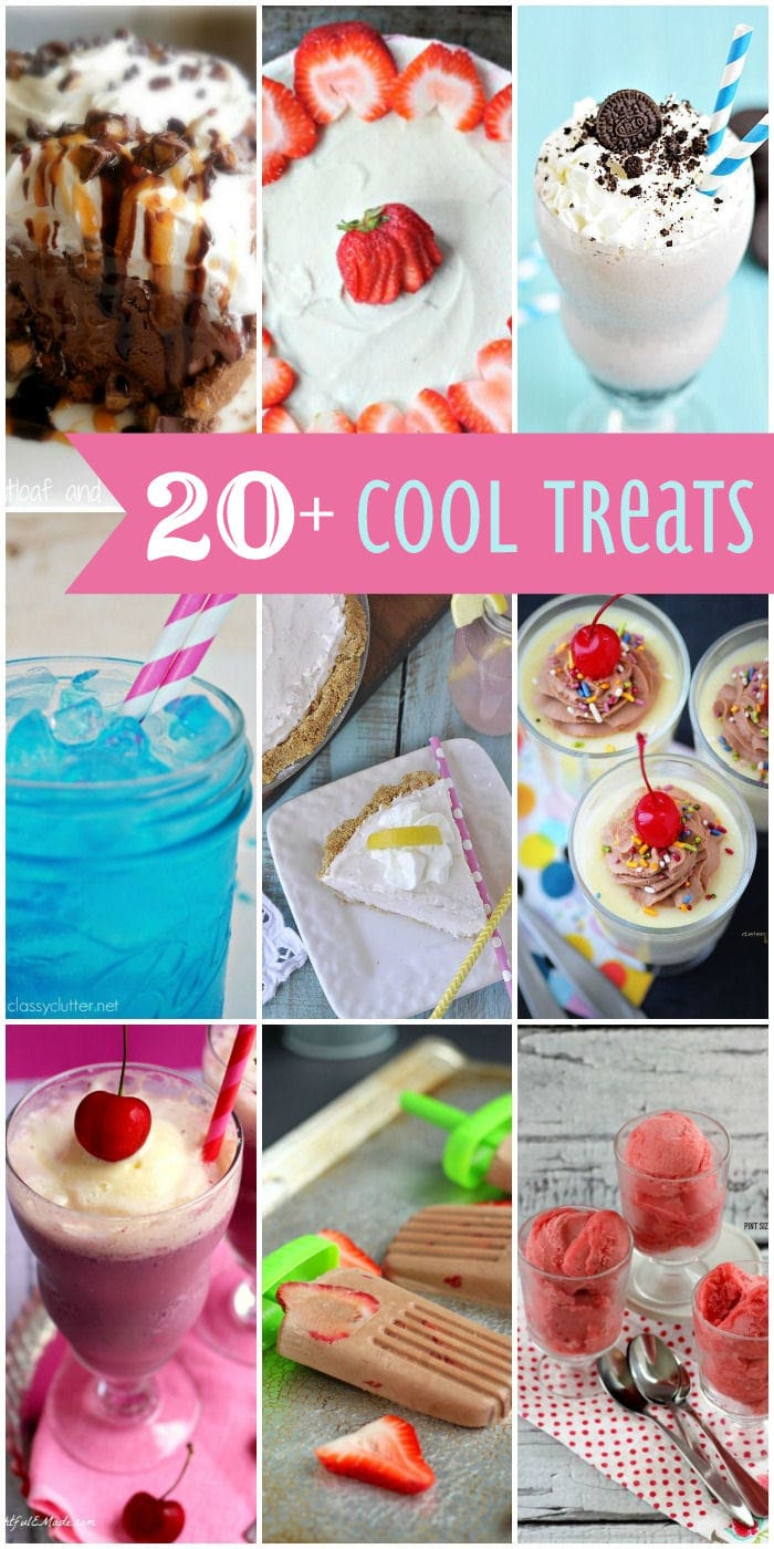 20+ Cool Treats that are delicious and will help you cool down this summer! { lilluna.com } Ice cream, shakes, cakes, and more!!