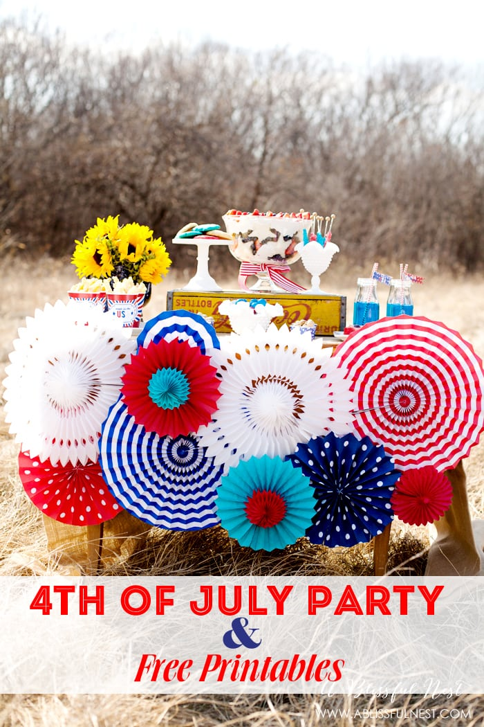 4th of July Party Ideas with FREE Printables. All you need for your holiday party!