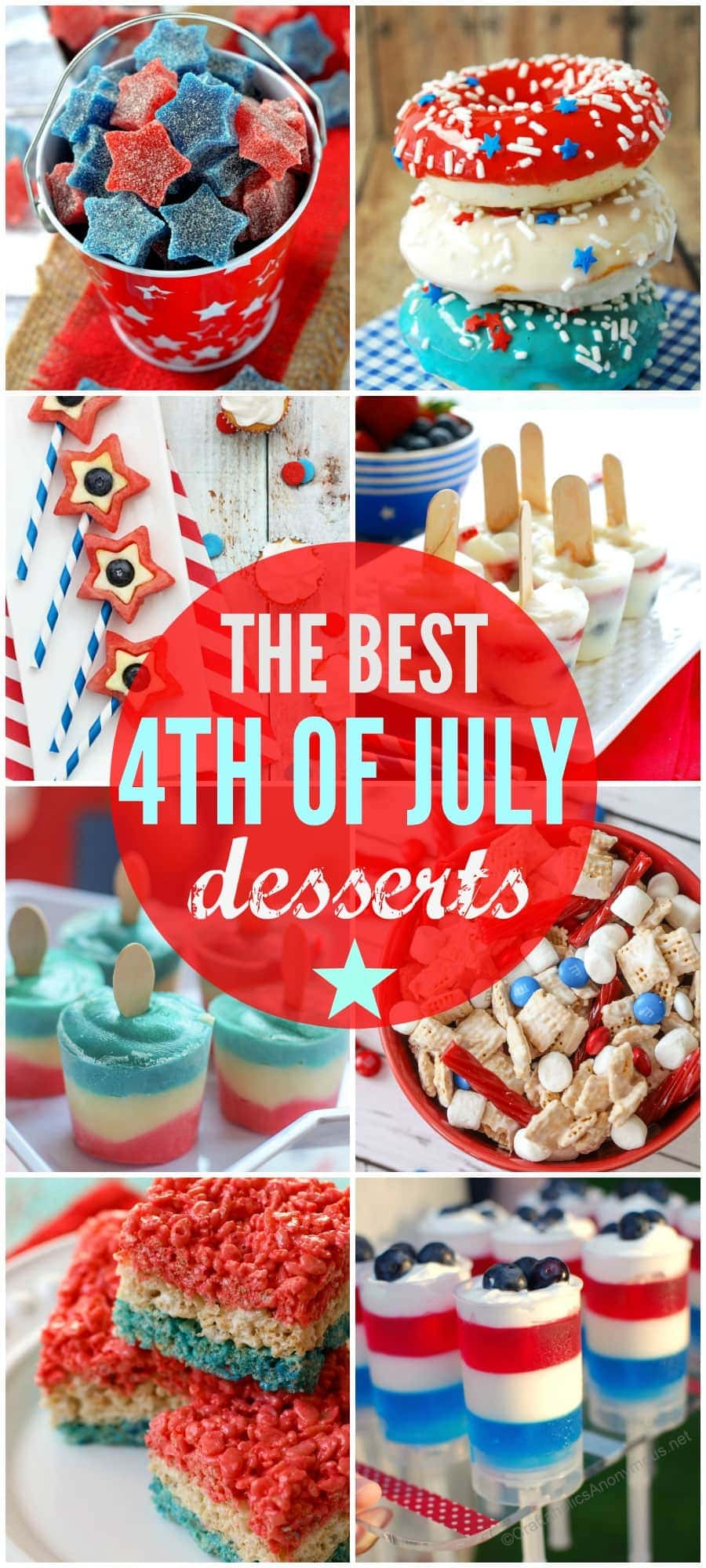 The BEST collection of 4th of July desserts. From cakes to trifles and fudge, these red, white and blue creations are perfect for all your patriotic celebrations!
