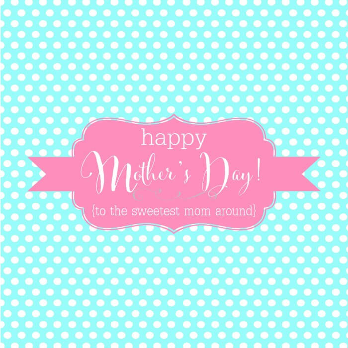 Happy Mothers Day Candy Bar Wrappers - AQUA