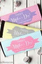 Mother's Day Candy Bar Wrappers - fre download on { lilluna.com }