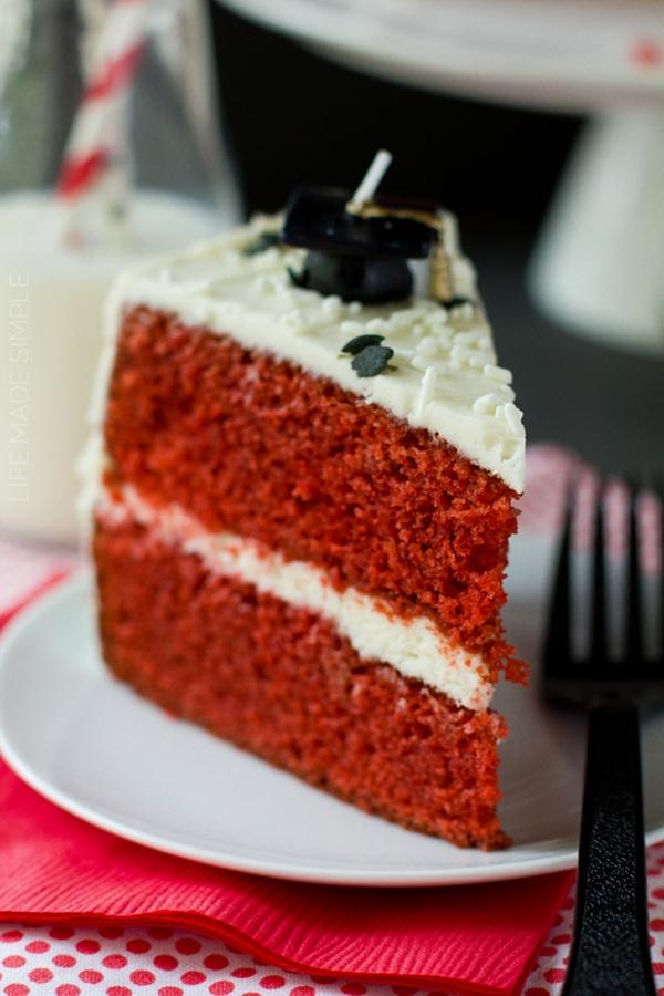 Red Velvet Cake with Vanilla Bean Cream Cheese Frosting recipe