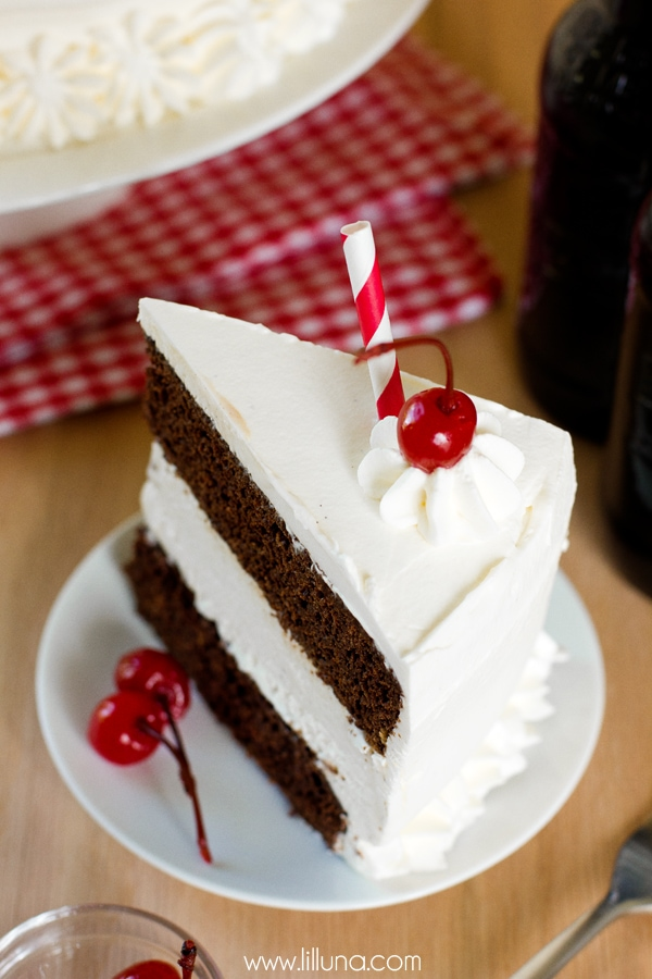 Root Beer Float Ice Cream Cake