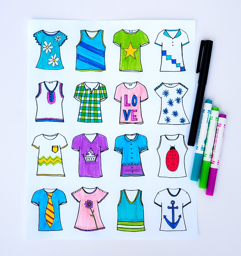 Tshirt Designer Prints - free download on { lilluna.com } - perfect for the kids!