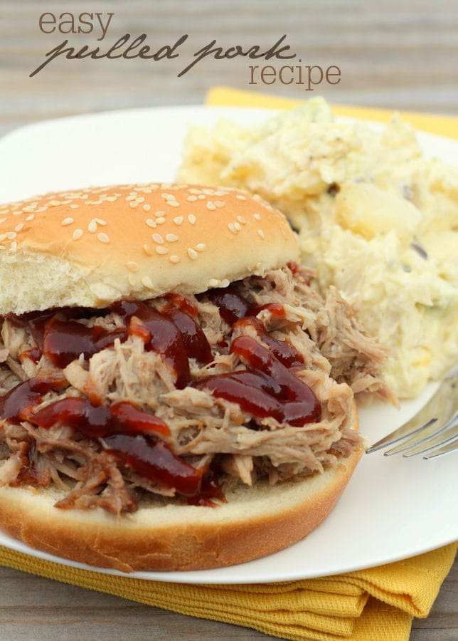 Delicious and Easy Crock Pot Pulled Pork recipe - our favorite! { lilluna.com }