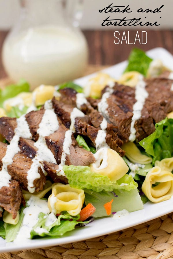 Super Delicious Steak and Tortellini Salad - a new favorite! Easy to make & so good!
