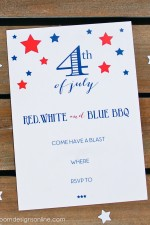 Fourth of July BBQ Invitations