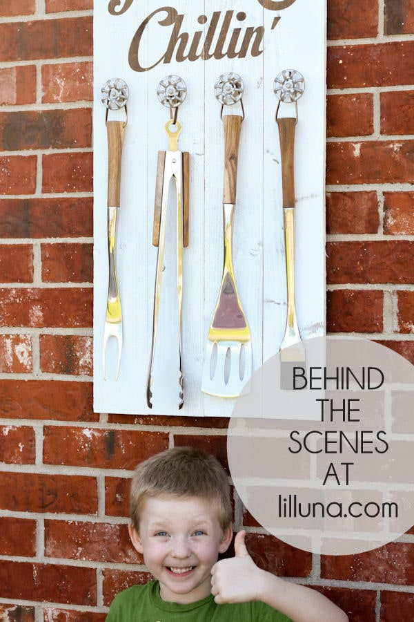 Behind the Scenes - Grillin' and Chilling Sign