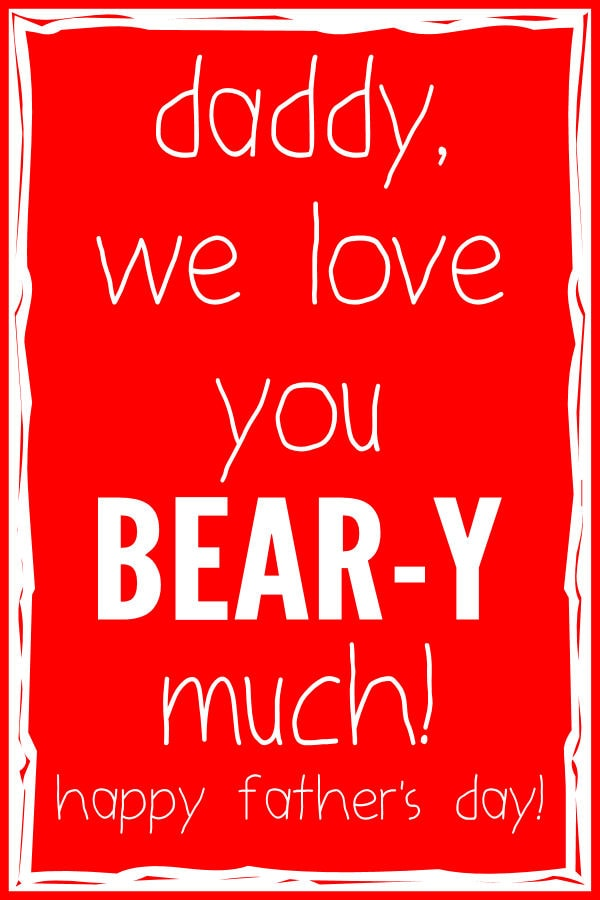 FathersDay - We Love You BEARy Much print