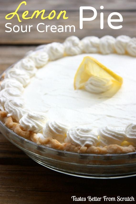 Lemon Sour Cream Pie recipe