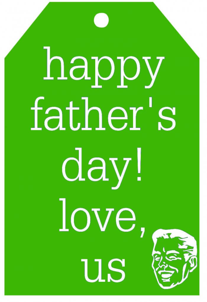 Happy Fathers Day Tag-green