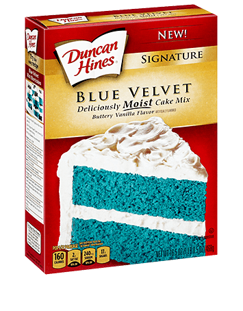 Blue Velvet Cake Box Mix