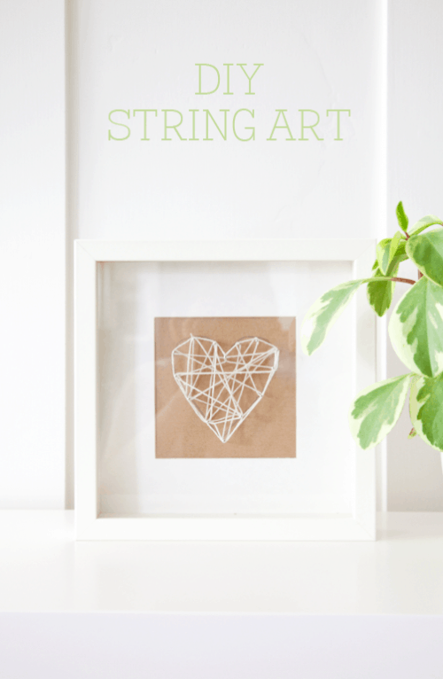 DIY String Art Tutorial on { lilluna.com } So easy and you can do whatever shape you'd like!! The prefect little gift!