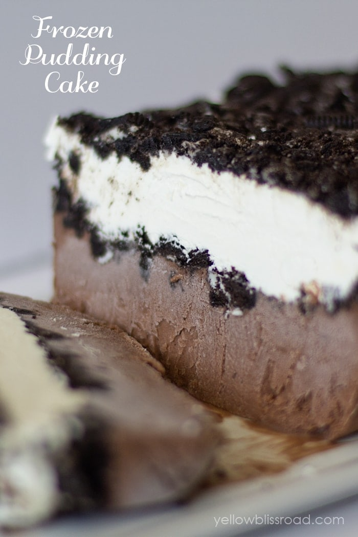Frozen Chocolate Oreo Pudding Cake { lilluna.com } A delicious, chocolatey, cool dessert!!