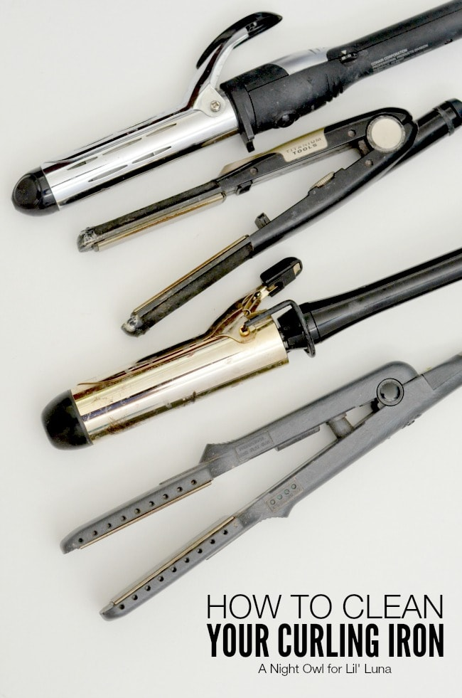How to Clean Your Curling Iron - SO need to do this!