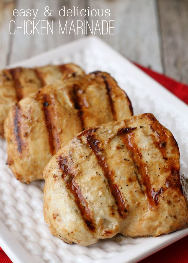 A great Chicken Marinade recipe - perfect for anyone who loves chicken! { lilluna.com }