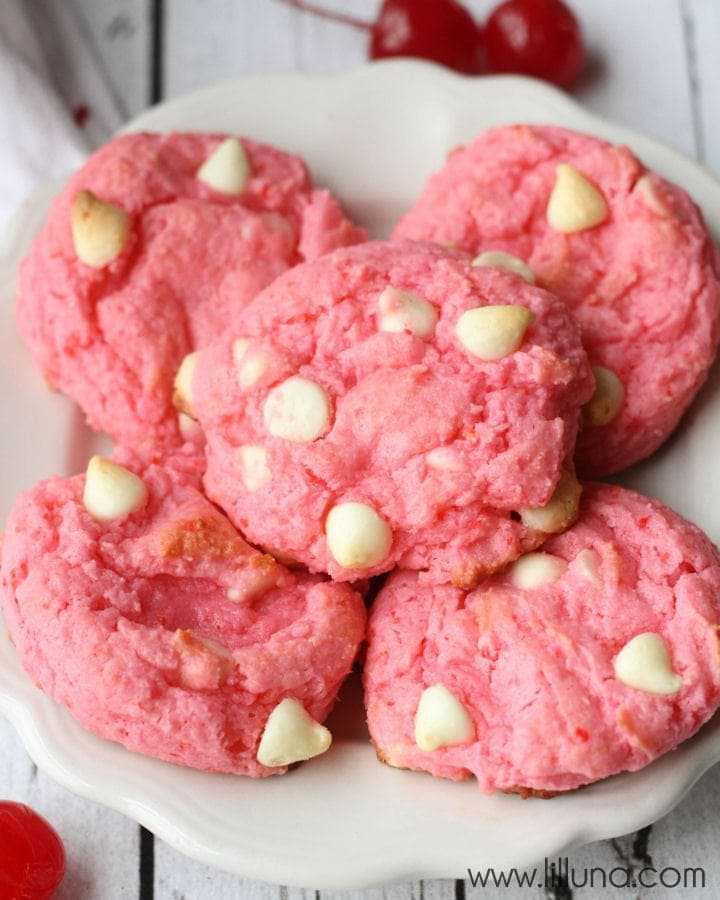 Chocolate Cherry Frosted Cookies