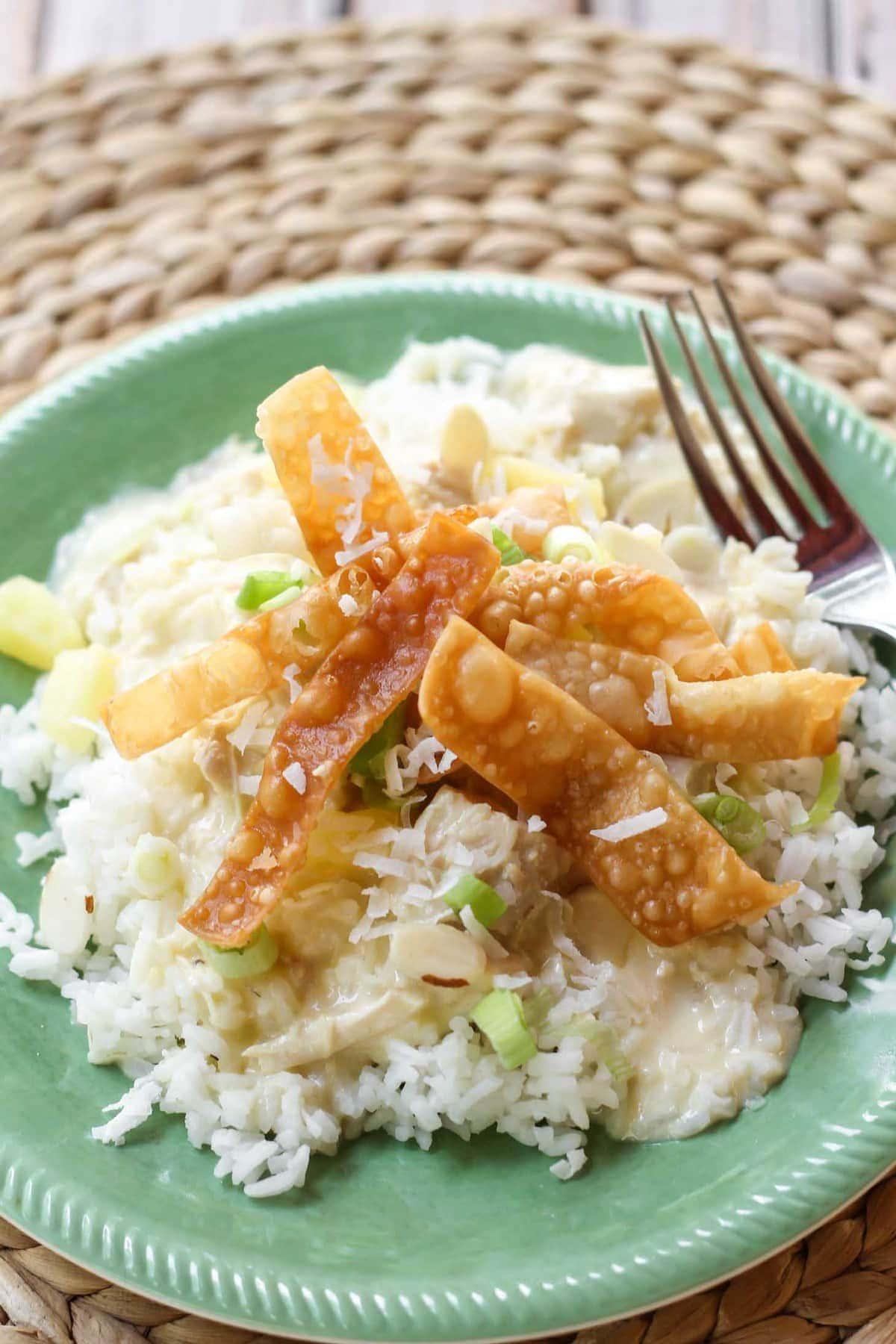 Hawaiian Haystacks recipe on plate