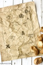 Printable Treasure Map Kids Activity