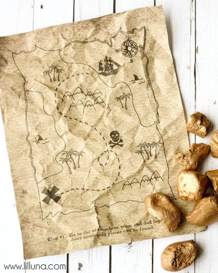 Printable Pirate Treasure Map { lilluna.com }