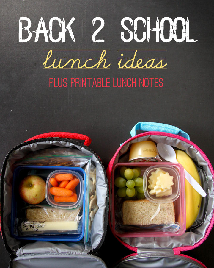 Back 2 School Lunch Ideas + FREE Printable Lunch Notes and Jokes { lilluna.com }