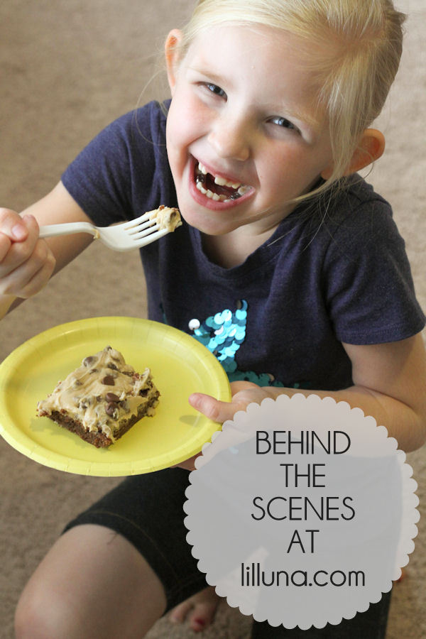 Behind the Scenes - Cookie Dough Brownie