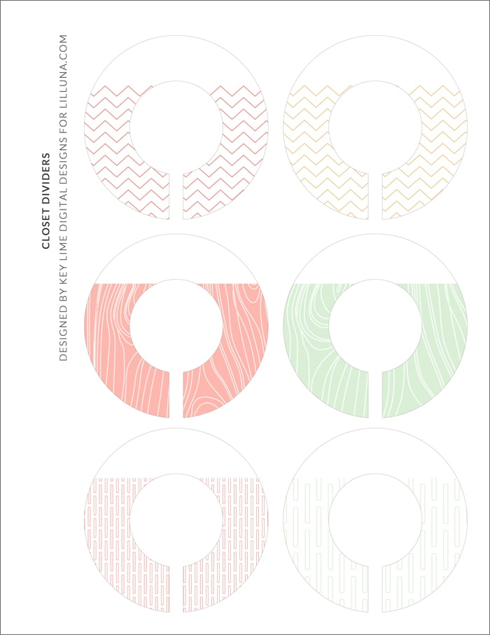 Printable Baby Closet Dividers Part - 19: FREE Kids Closet Hanger Dividers - Printables on { lilluna.com } Such a  great