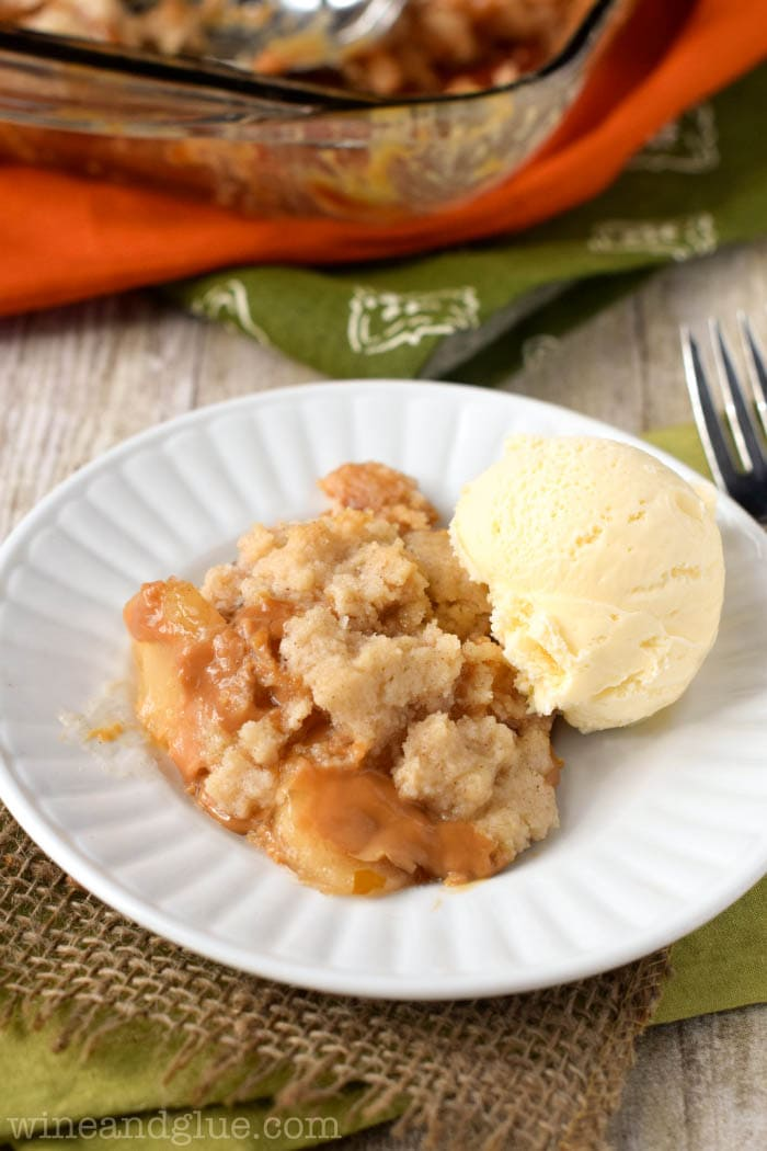 Caramel Apple Dump Cake recipe on { lilluna.com }