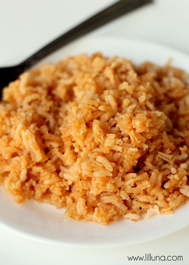 Delicious Restaurant Style Mexican Rice - our favorite! { lilluna.com }