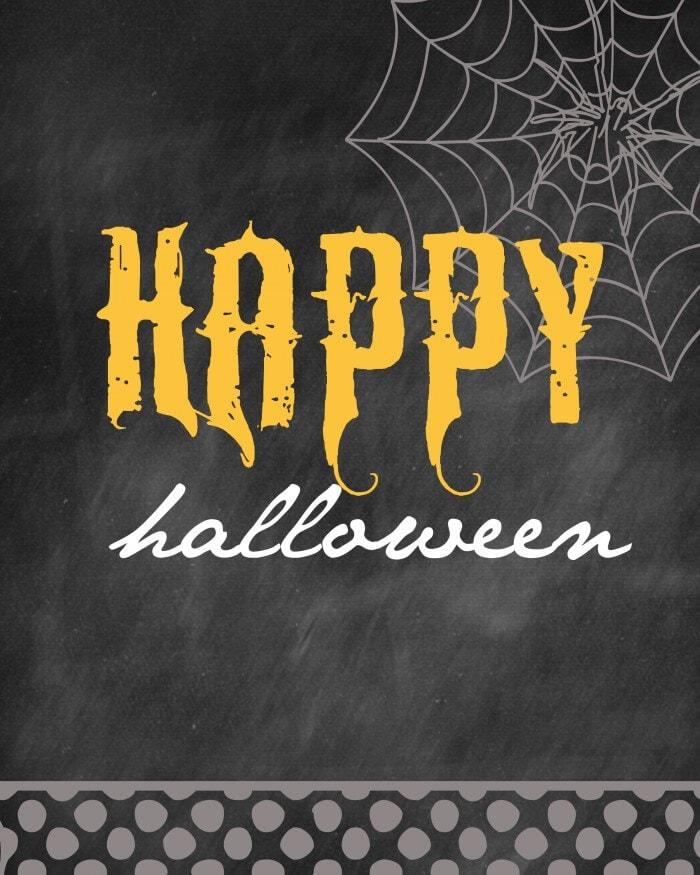 Halloween - Happy Halloween Print.
