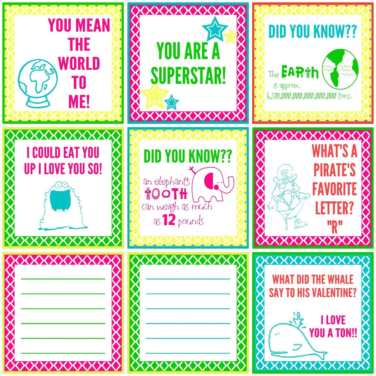 FREE Lunch Box Notes and Jokes on { lilluna.com } The kids will love getting these little surprises each day!