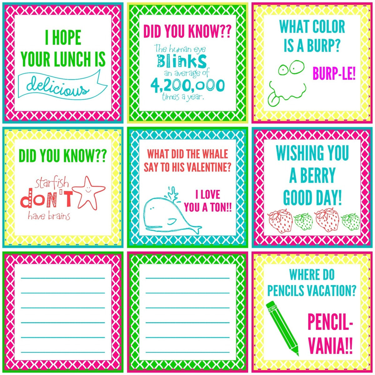 graphic relating to Printable Lunch Notes called Lunch Tips for Children Lil Luna