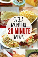 Over a month worth of meals that only take 20 minutes or less to prepare! Check it out on { lilluna.com }