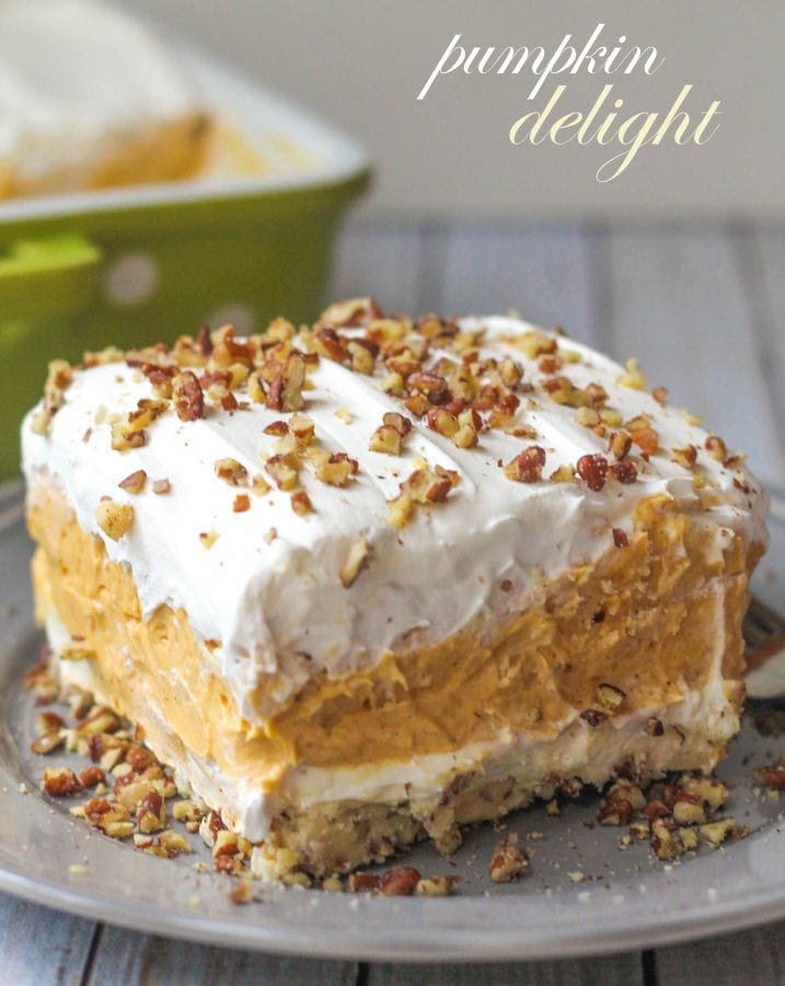 Pumpkin Dessert No Cake Mix