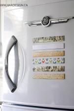 Scrapbook Paper Magnets