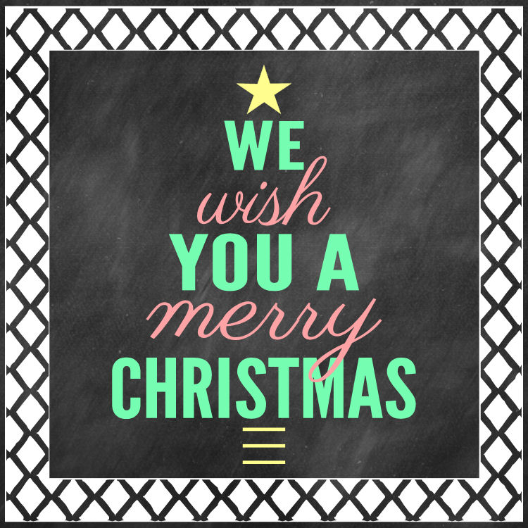 We Wish You A Merry Christmas Print