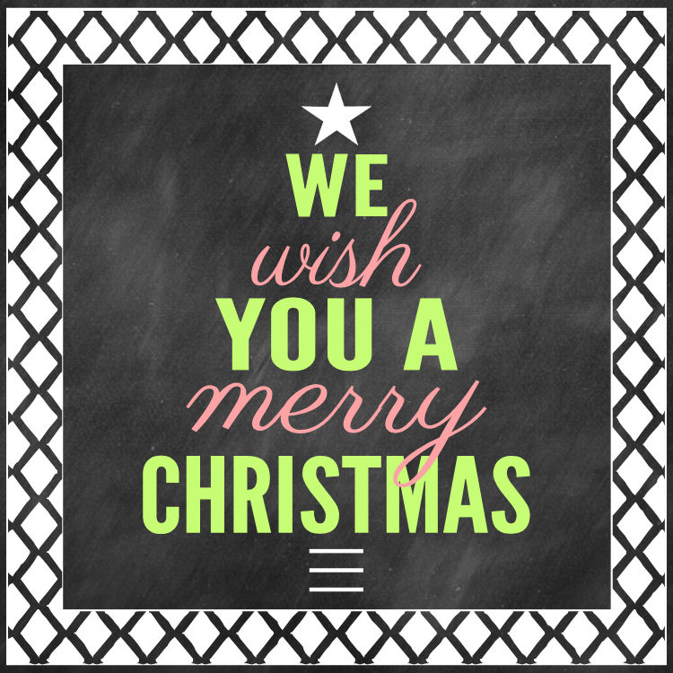 We Wish You A Merry Christmas-2 Print