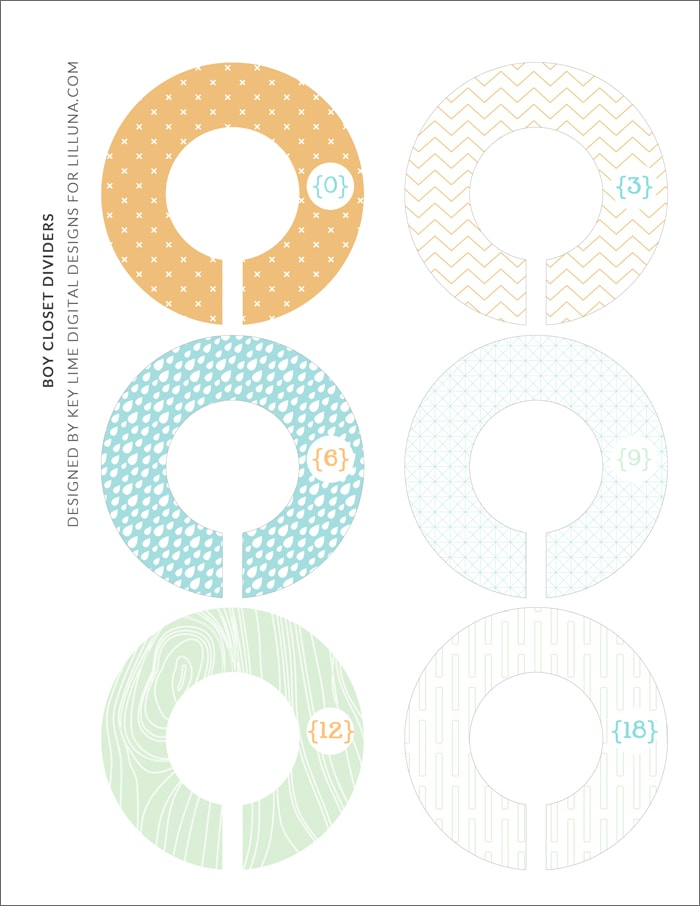 photo relating to Printable Closet Dividers titled Absolutely free Youngsters Closet Dividers