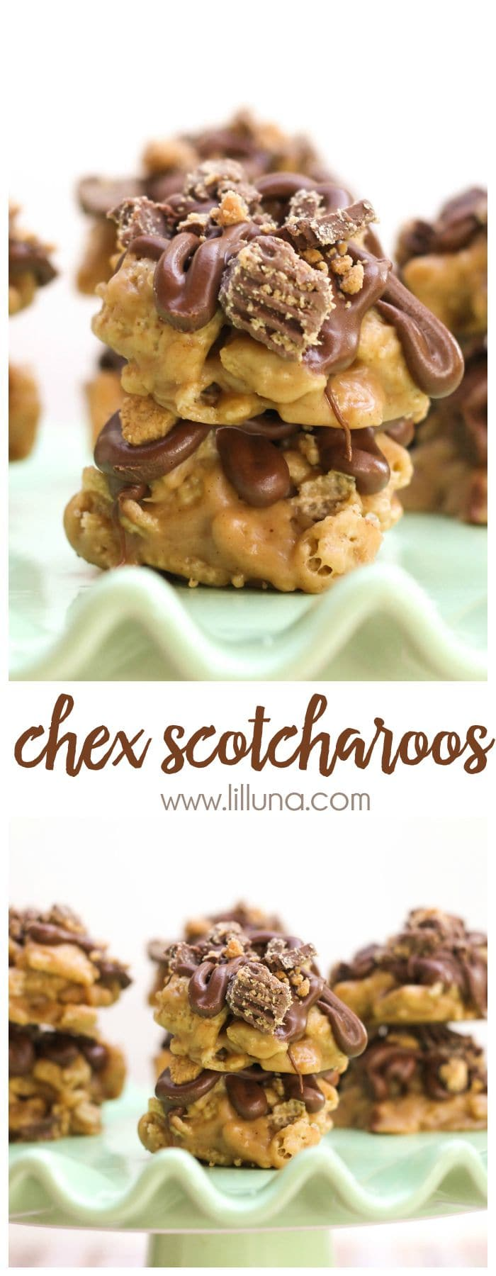 You can't eat just one!! Chex Scotcharoos - filled with butterscotch and chocolate!