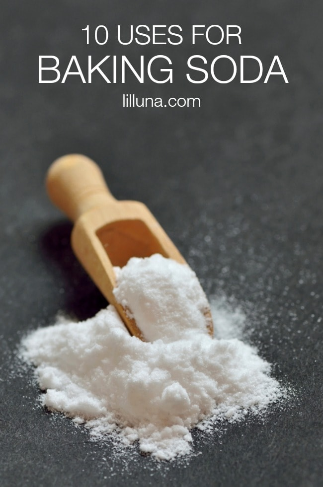 Brilliant uses for baking soda! { lilluna.com } Great ideas to help you use baking soda for more than baking!